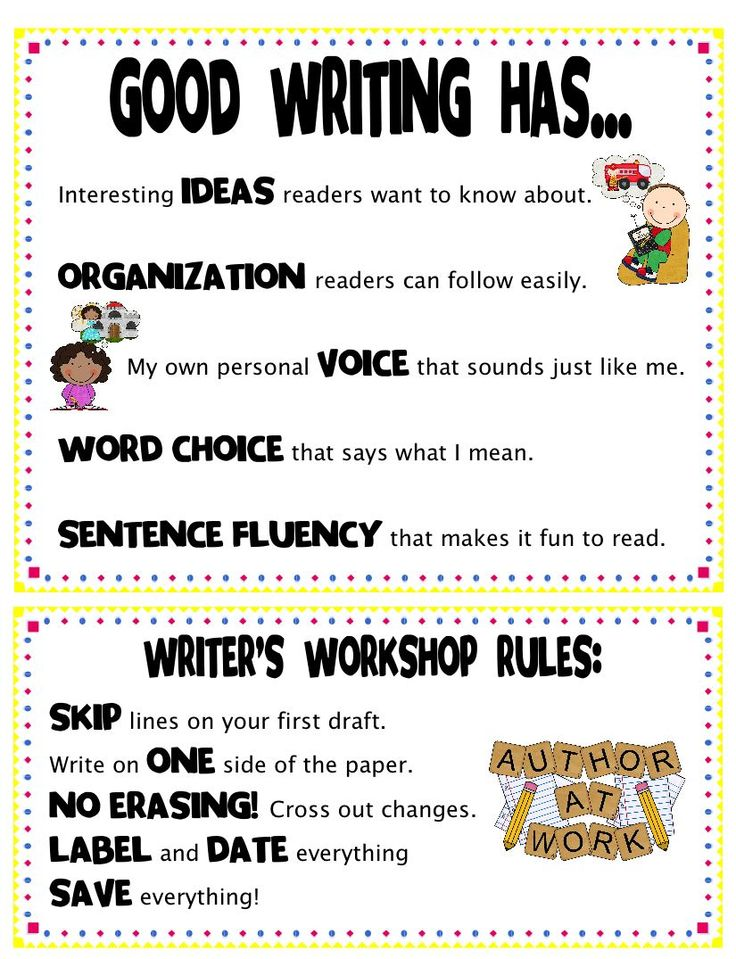 writers workshops rules